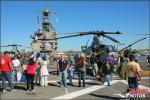 The loaded flight deck of the USS Peleliu (LHA-5) with guests on board - Photo by Britt Dietz