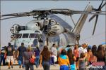 A CH-53E Super Stallion from HMH-465 'Warhorses' is surrounded by people at the 2012 NAF El Centro Airshow - Photo by Britt Dietz
