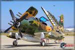 Douglas A-1E Skyraider   &  F-22A Raptor - Planes of Fame Airshow 2014 [ DAY 1 ]