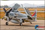 Douglas AD-4N Skyraider - Planes of Fame Airshow 2016 [ DAY 1 ]