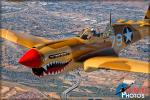 Curtiss P-40N Warhawk - Air to Air Photo Shoot - October 10, 2015