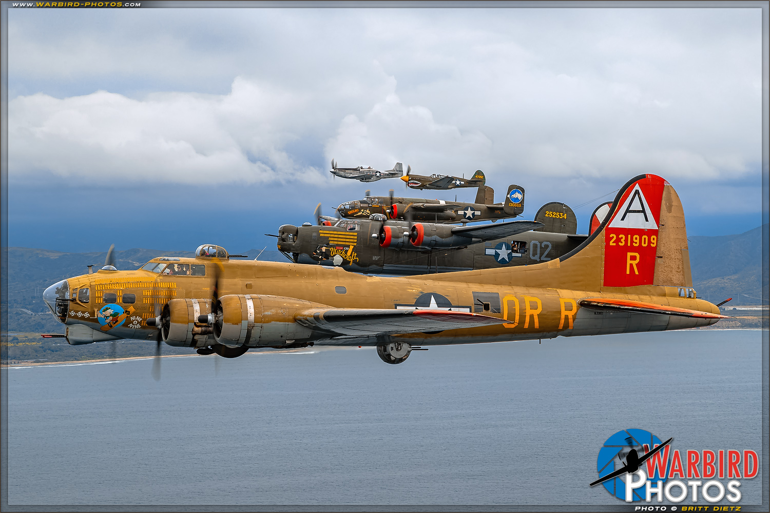 Warbird Gaggle    - Air to Air Photo Shoot - Collings Foundation Fleet - May 8, 2019