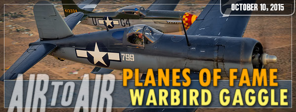 Air to Air Photo Shoot - Planes of Fame Warbird Gaggle - October 10, 2015