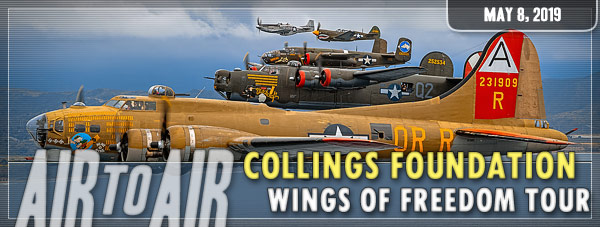 Air to Air Photo Shoot - Collings Foundation Fleet - May 8, 2019