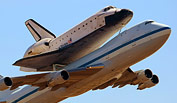 Full story and photo gallery chronicling the arrival of the Space Shuttle Endeavour on it's final journey piggy-backed on top of a NASA 747 SCA to Los Angeles International Airport and over Southern California landmarks.