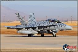 "A Boeing F/A-18D Hornet from VMFAT (AW) 223 ""The Bengals"" based at MCAS Cherry Point taxis out to the runway at Naval Air Facility El Centro, California for departure. - Photo by Britt Dietz"